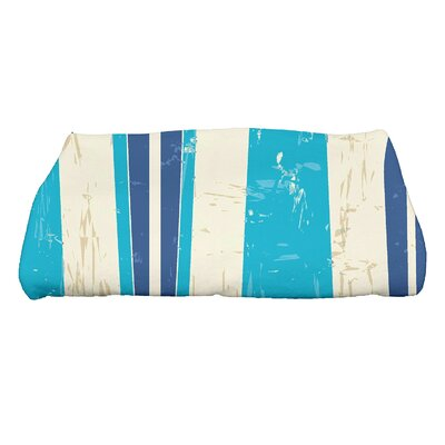 Golden Beach Dean Striped Print Bath Towel Color: Turquoise