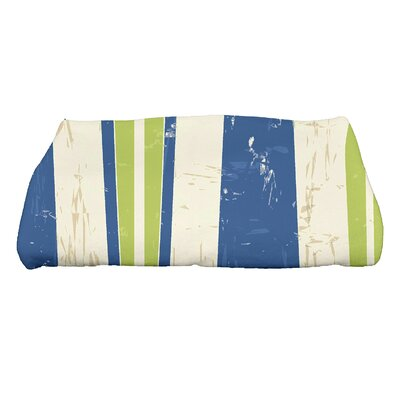 Golden Beach Dean Striped Print Bath Towel Color: Light Green
