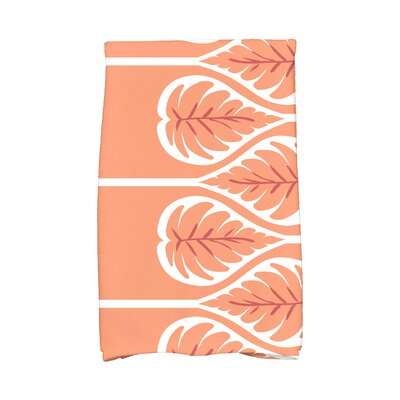 Sigsbee Fern 1 Hand Towel Color: Coral