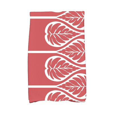 Sigsbee Fern 2 Hand Towel Color: Coral
