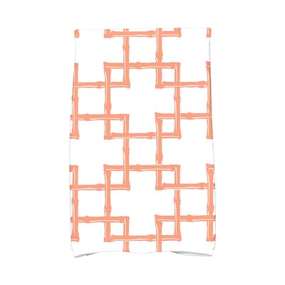 Sigsbee Bamboo Print 2 Hand Towel Color: Coral