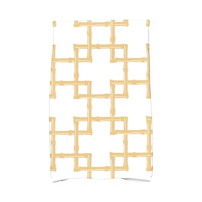 Sigsbee Bamboo Print Hand Towel Color: Gold