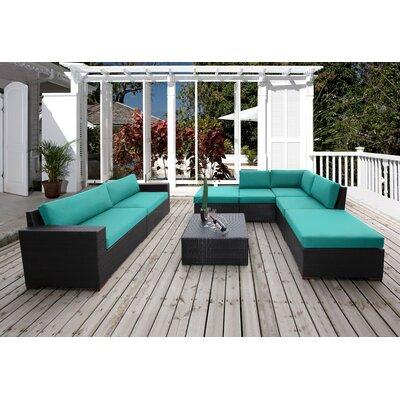 Scholtz 8 Piece Deep Seating Group with Cushion Fabric: Canvas Aruba