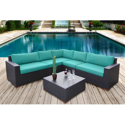 Scholtz 6 Piece Sectional Seating Group with Cushions Fabric: Canvas Aruba