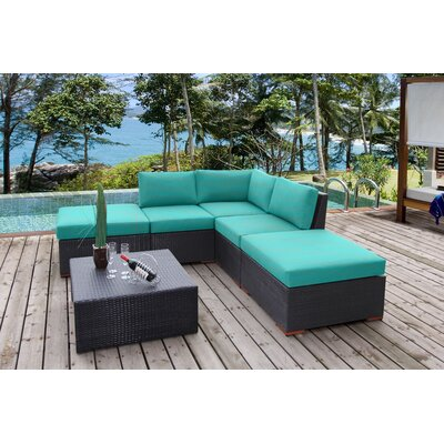 Scholtz 6 Piece Deep Seating Group with Cushions Fabric: Canvas Aruba