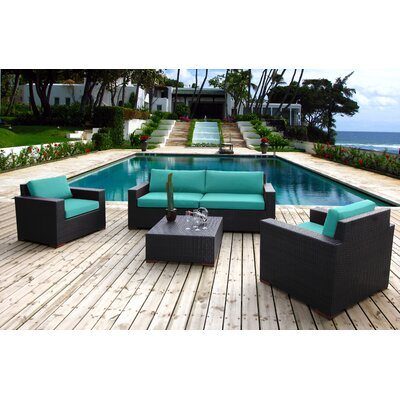 Scholtz 5 Piece Deep Seating Group with Cushions Fabric: Canvas Aruba