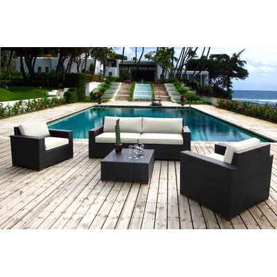 Scholtz 5 Piece Deep Seating Group with Cushions Fabric: Canvas Natural
