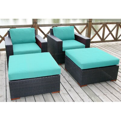 Scholtz Club Chair with Cushions Fabric: Canvas Aruba