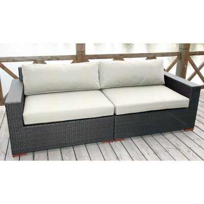 Scholtz Sofa with Cushions Fabric: Canvas Natural