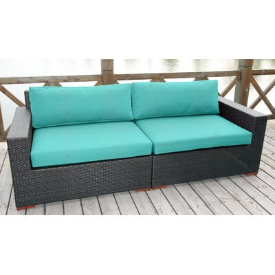 Scholtz Sofa with Cushions Fabric: Canvas Aruba