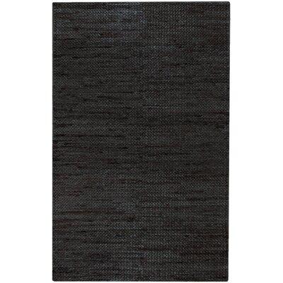 Tai Hand-Woven Black Area Rug Rug Size: 5 x 8