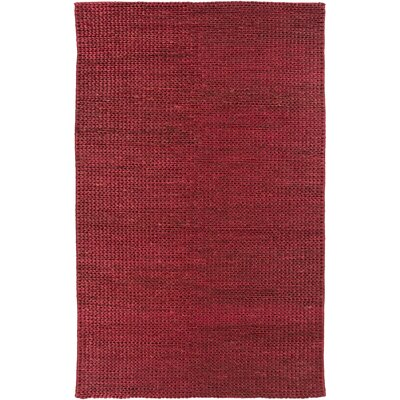 Tai Hand Woven Burgundy Area Rug Rug Size: Rectangle 5 x 8
