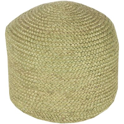 Tai Pouf Ottoman Upholstery: Olive Green