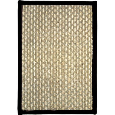 Plumbago Beige/Black Area Rug Rug Size: Rectangle 18 x 28
