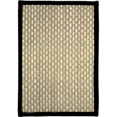 Plumbago Beige/Black Area Rug Rug Size: 23 x 37