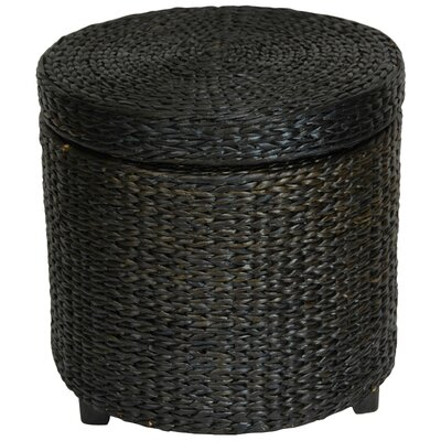 Horsetail Storage Ottoman Finish: Black