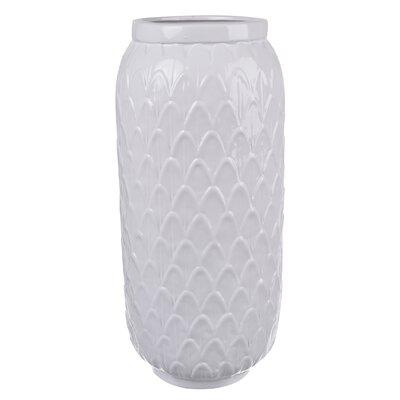 White Ceramic Vase (Set of 2) Size: 14.5 H x 7 W x 7 D