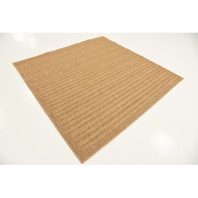 Chasew City Light Brown Indoor/Outdoor Area Rug Rug Size: 4 x 6