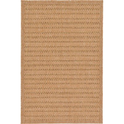 Chasew City Light Brown Outdoor Area Rug Rug Size: 33 x 5