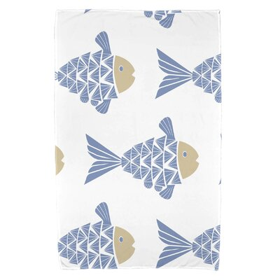 Grand Ridge Fish Tales Beach Towel Color: Blue