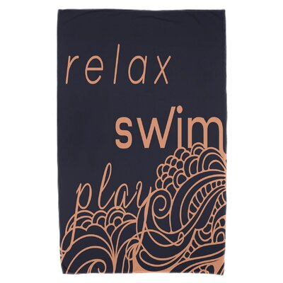 Grand Ridge Mellow Mantra Beach Towel Color: Orange