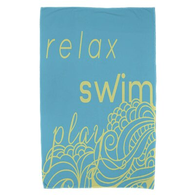 Grand Ridge Mellow Mantra Beach Towel Color: Turquoise