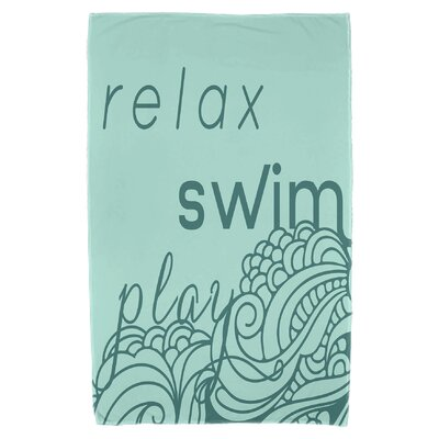 Grand Ridge Mellow Mantra Beach Towel Color: Aqua