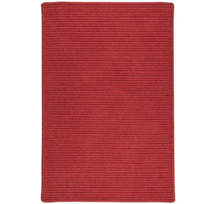 Hopseed Hand-Woven Red Indoor/Outdoor Area Rug Rug Size: 5 x 7