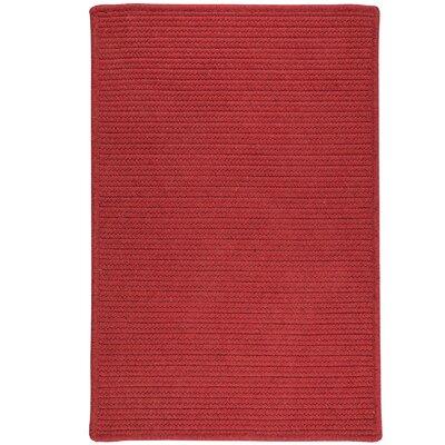 Hopseed Hand-Woven Red Indoor/Outdoor Area Rug Rug Size: 5 x 7