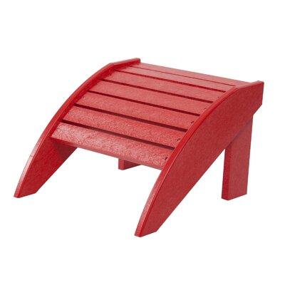 Alanna Adirondack Footstool Color: Red