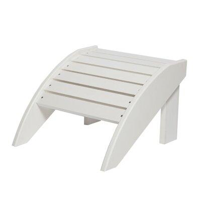 Alanna Adirondack Footstool Color: White