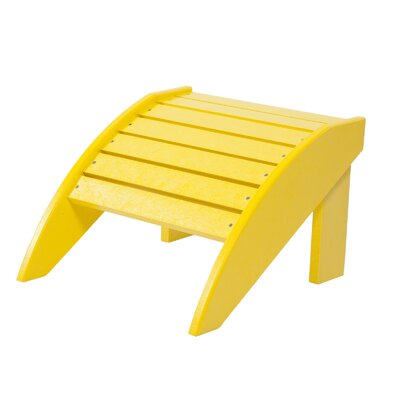 Alanna Adirondack Footstool Color: Yellow