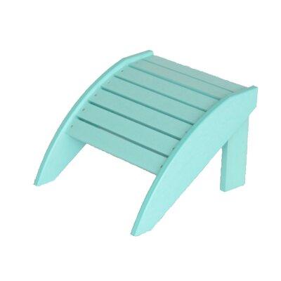 Alanna Adirondack Footstool Color: Aqua