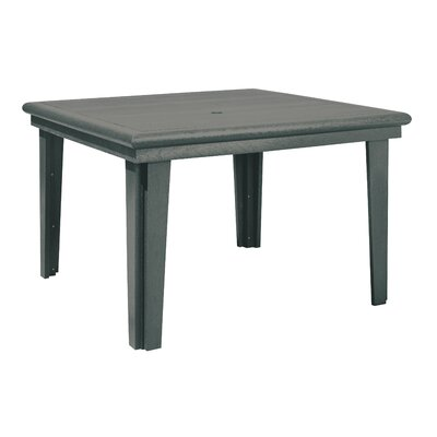 Alanna Stainless Steel Hardware Dining Table Finish: Slate Gray
