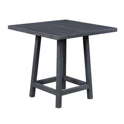 Zander Square Pub Table Finish: Graystone