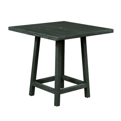 Zander Square Pub Table Finish: Forest Green