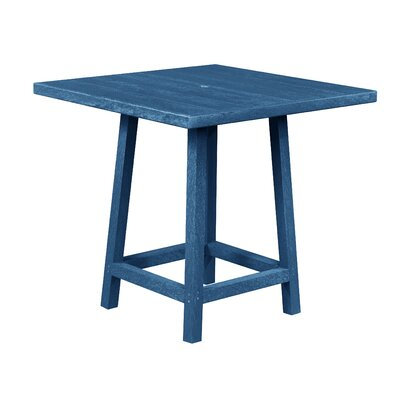 Zander Square Pub Table Finish: Cobalt Blue