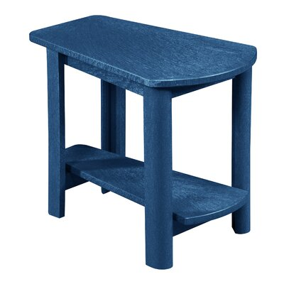 Zander Rectangle Side Table Finish: Cobalt Blue