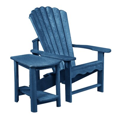 Zander Adirondack Chair and Side Table Finish: Cobalt Blue