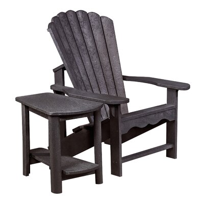 Zander Adirondack Chair and Side Table Finish: Espresso