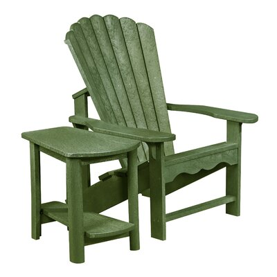 Zander Adirondack Chair and Side Table Finish: Cactus Green
