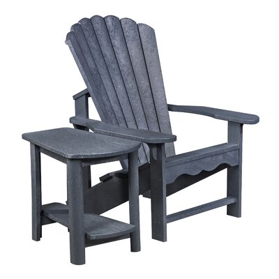 Zander Adirondack Chair and Side Table Finish: Graystone