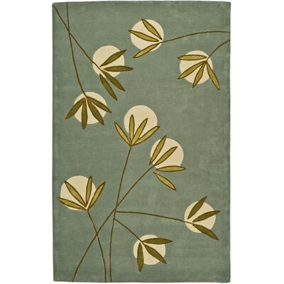 Felton Light Blue/Green Area Rug Rug Size: 76 x 96