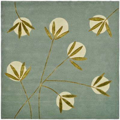 Felton Light Blue/Green Area Rug Rug Size: Square 6