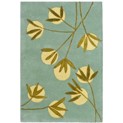 Felton Light Blue/Green Area Rug Rug Size: 2 x 3