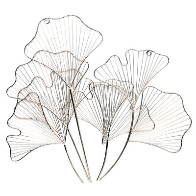Lily Flowers Silver Nickel Wall Décor