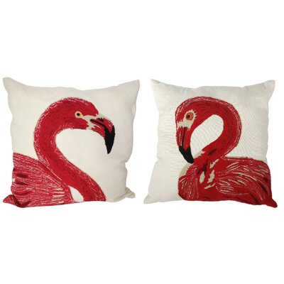 Chanson 2 Piece Embroidered Throw Pillow Set (Set of 2)