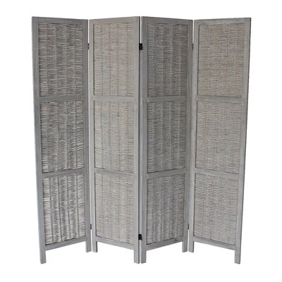 Burrillville 70 x 67 4 Panel Room Divider Color: Gray