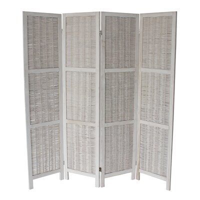 Burrillville 70 x 67 4 Panel Room Divider Color: White