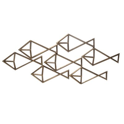 Gold Iron Fish Wall Decor